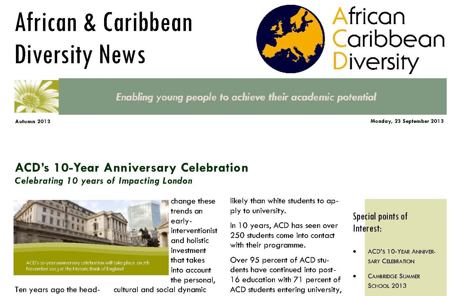 ACD Newsletter September 2013